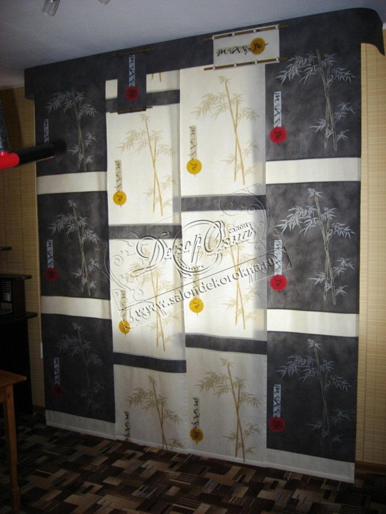 Шторы, портьеры: Шторы японские панели в Декор окна, салон