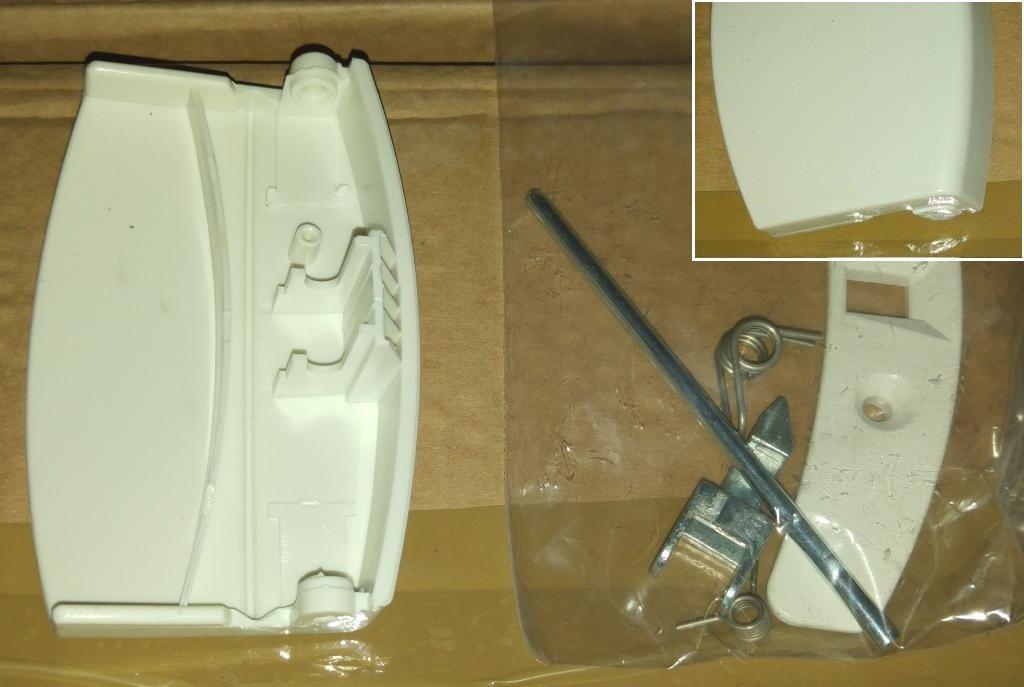 Ручки, крючки, петли, стекла и рамки люка для стиральной машины: Ручка люка для стиральной машины AEG (АЕГ) 50287899004, 4055087003 в АНС ПРОЕКТ, ООО, Сервисный центр