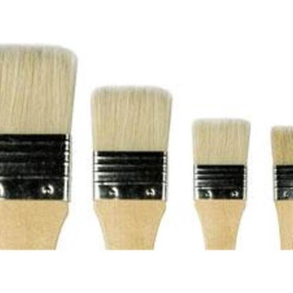 """Щетина: Кисть щетина """"Сонет"""" флейцевая короткая ручка покрытая лаком №2 (40мм) в Шедевр, художественный салон"""