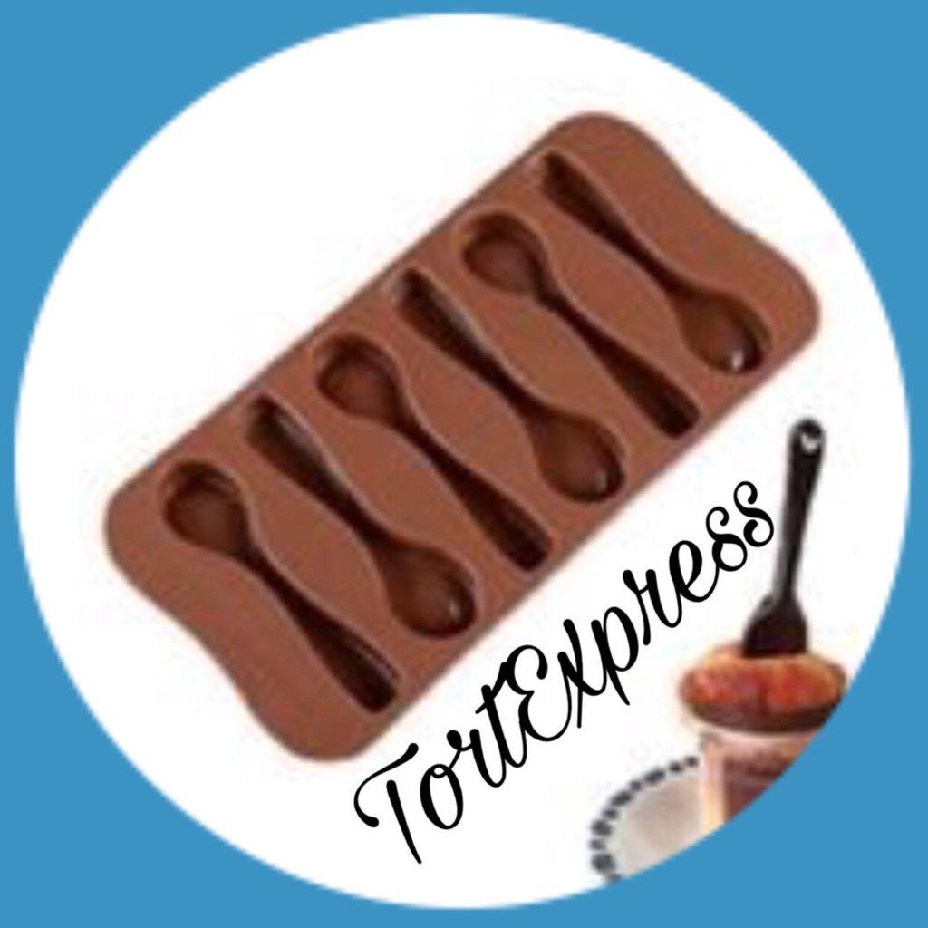 Силиконовые формы для льда, шоколада и мармелада: Силиконовая форма для льда и шоколада Ложки 6 ячеек в ТортExpress