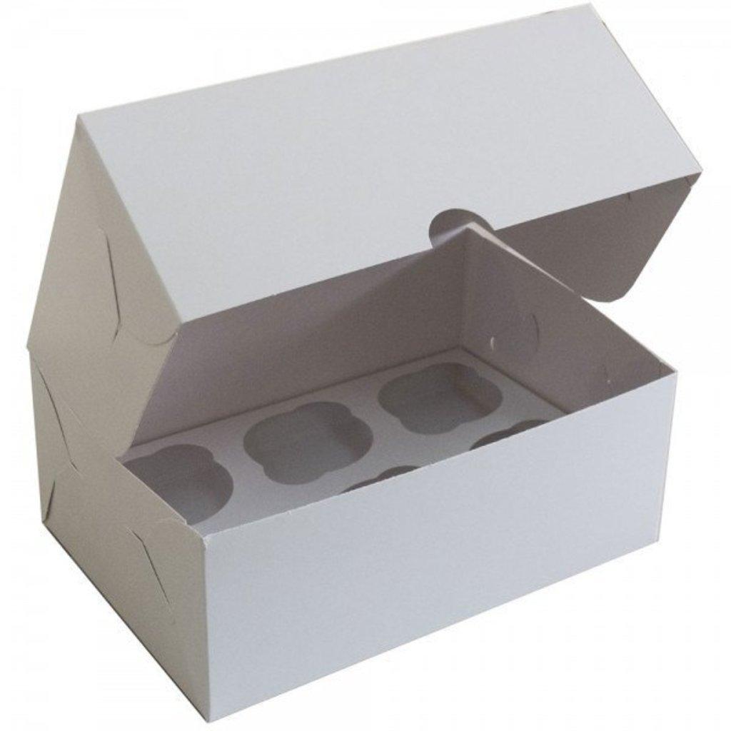 Упаковка: Коробка для 6 капкейков в ТортExpress