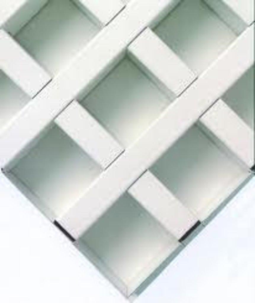 Потолки Армстронг (минеральное волокно): Потолочная плита Cellio C64  75x75x37  White (non-assembled) в Мир Потолков