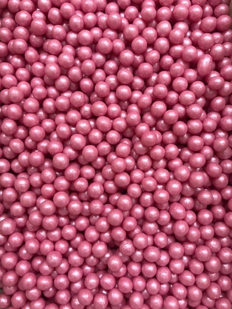 Посыпки декоративные: Посыпка Драже зерновое Жемчуг розовый  6-8мм 100г в ТортExpress