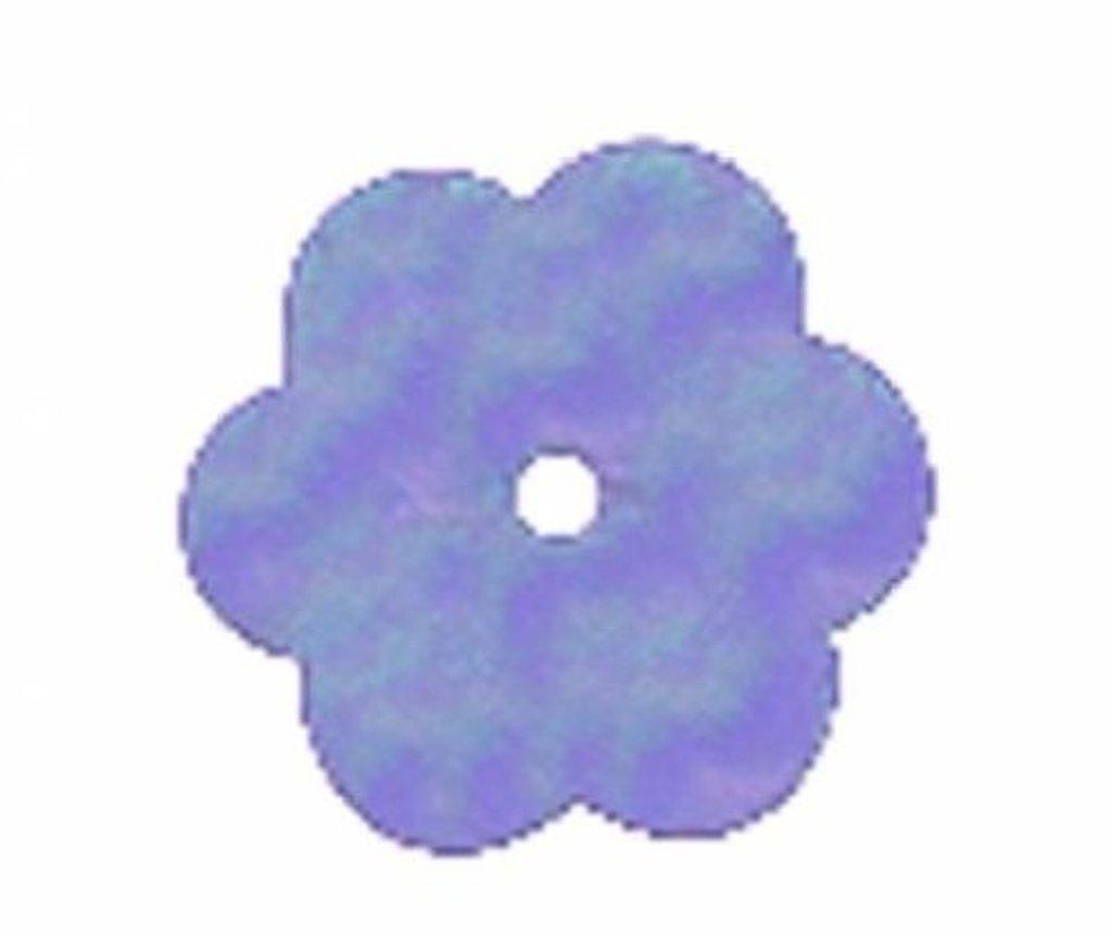 "Цветочки 10мм.: Пайетки""Цветочки""10мм.,упак/10гр.Астра(цвет:17 голубой) в Редиант-НК"