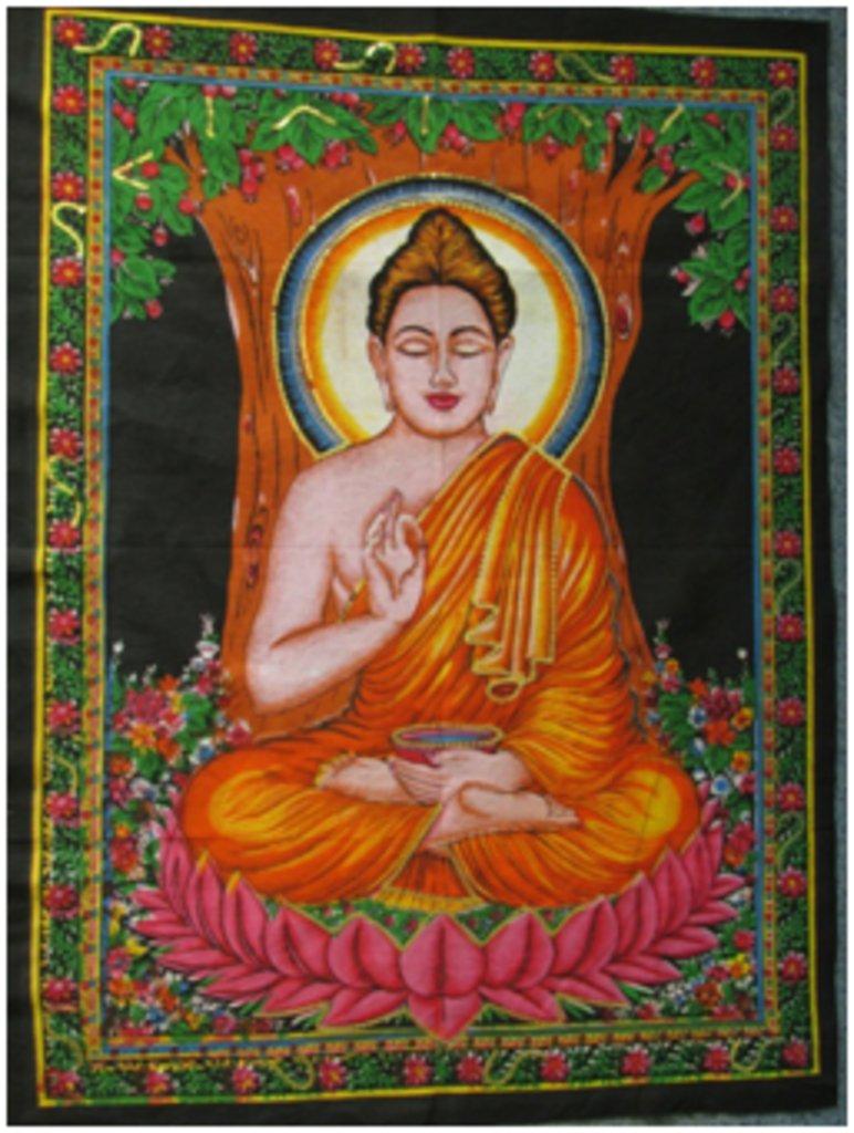 """Постеры: Постер """"Будда"""" в Шамбала, индийская лавка"""