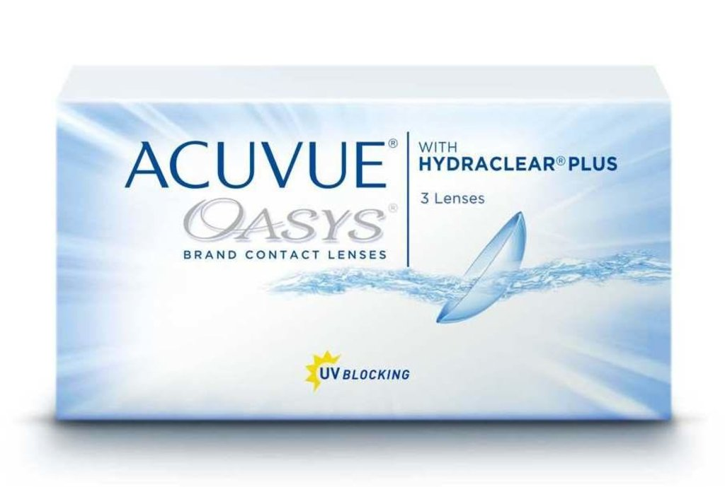 Контактные линзы: Контактные линзы Acuvue Oasys With Hydraclear Plus (3шт / 8.8) Johnson & Johnson в Лорнет