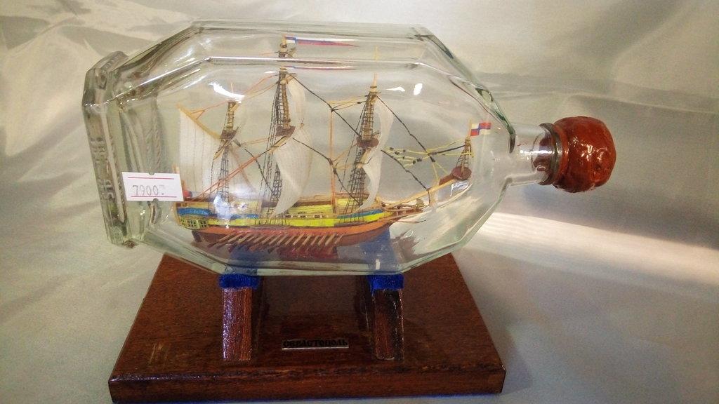 """Модели кораблей: Парусно-гребной фрегат """"Апостол Петр"""" в бутылке в Модели кораблей"""