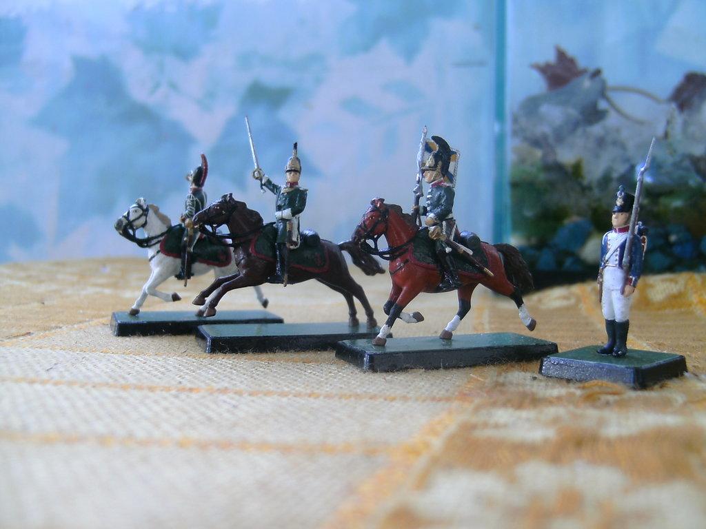 Фигурки 1/72: Русские драгуны. Командная группа. в Модели кораблей