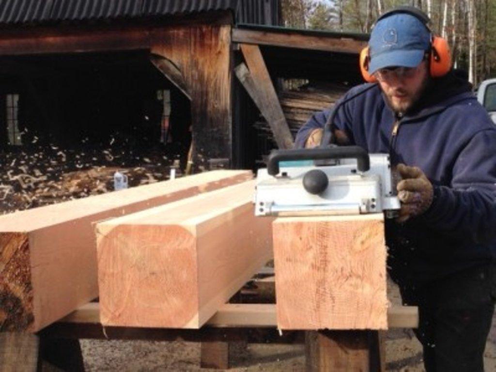 Обработка дерева: Строгание бруса в А-Строй