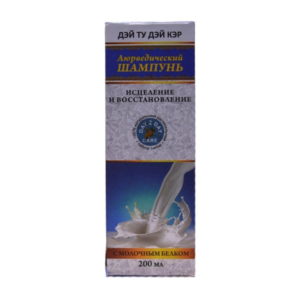Средства для волос: Аюрведический шампунь с молочным белком (Day 2 Day Care). Исцеление и восстановление в Шамбала, индийская лавка