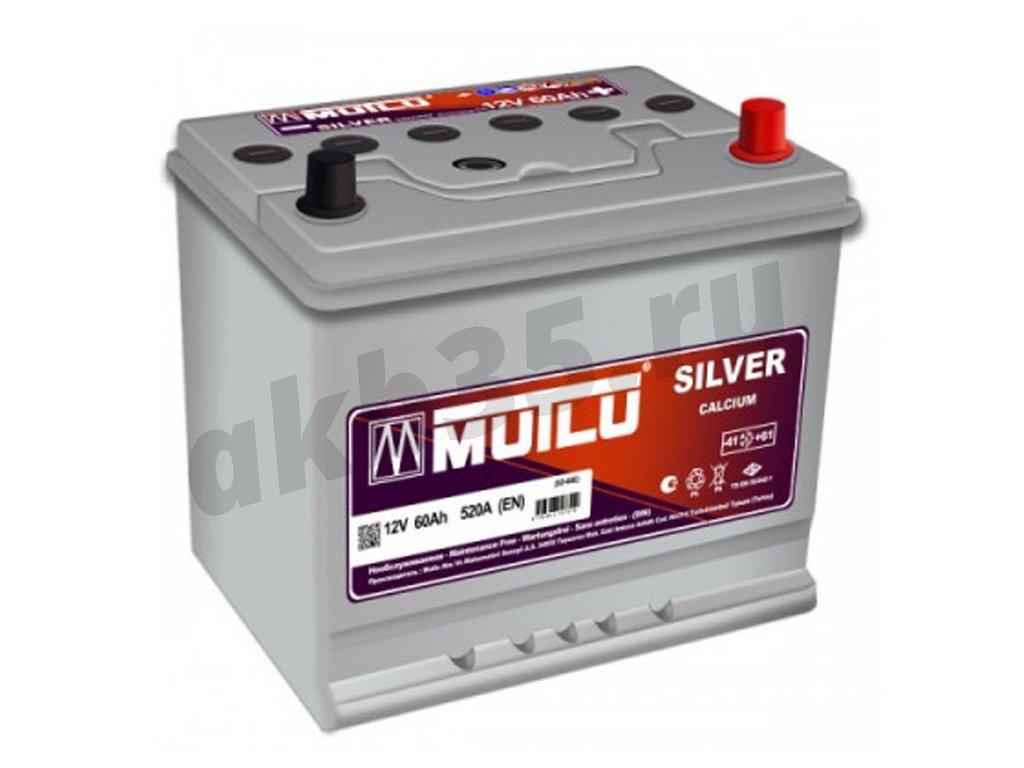 Аккумуляторы: MUTLU 60 А/ч Обратный Азия SFB D23L в Планета АКБ