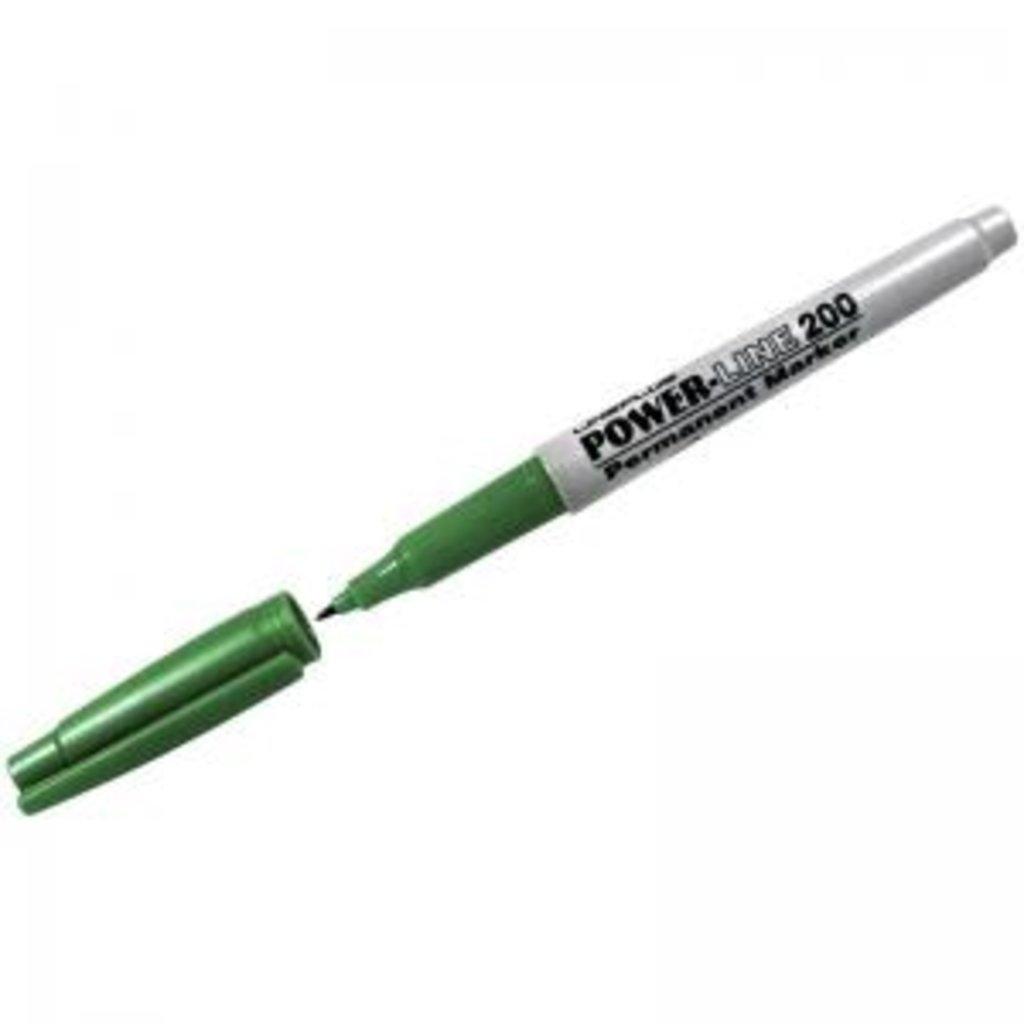 Маркеры, текстовыделители: Маркер перманентный зеленый 200F Line plus в Шедевр, художественный салон