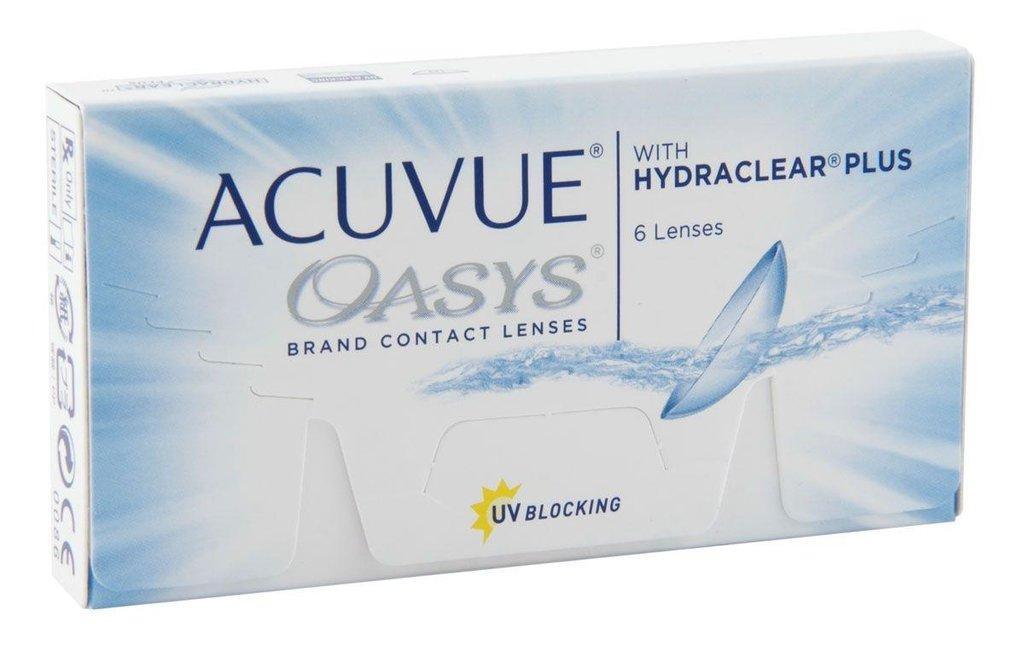 Контактные линзы: Контактные линзы Acuvue Oasys With Hydraclear Plus (6шт / 8.4) Johnson & Johnson в Лорнет