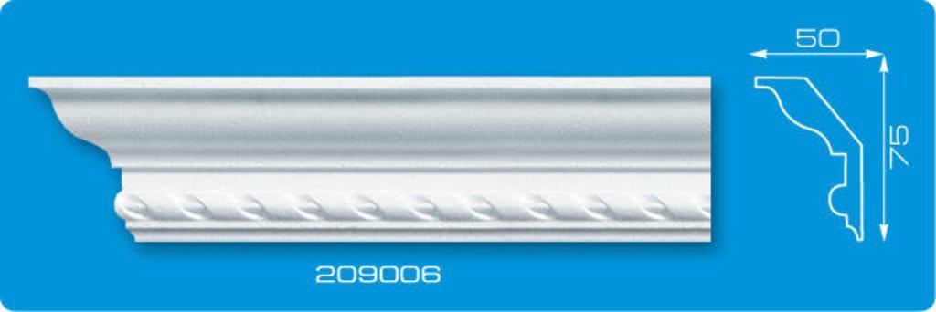 Плинтуса потолочные: Плинтус потолочный ФОРМАТ 209006 инжекционный длина 2м в Мир Потолков