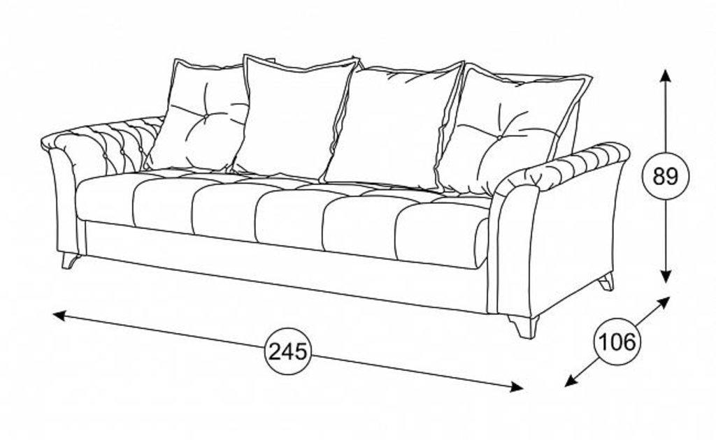 Диваны Ирис: Диван-Кровать Ирис ТД 964 в Диван Плюс