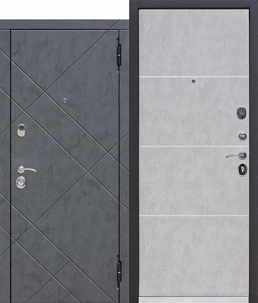 Двери FERRONI: Входная дверь 9 см БРУКЛИН Бетон графит / Бетон пепельный в Двери в Тюмени, межкомнатные двери, входные двери