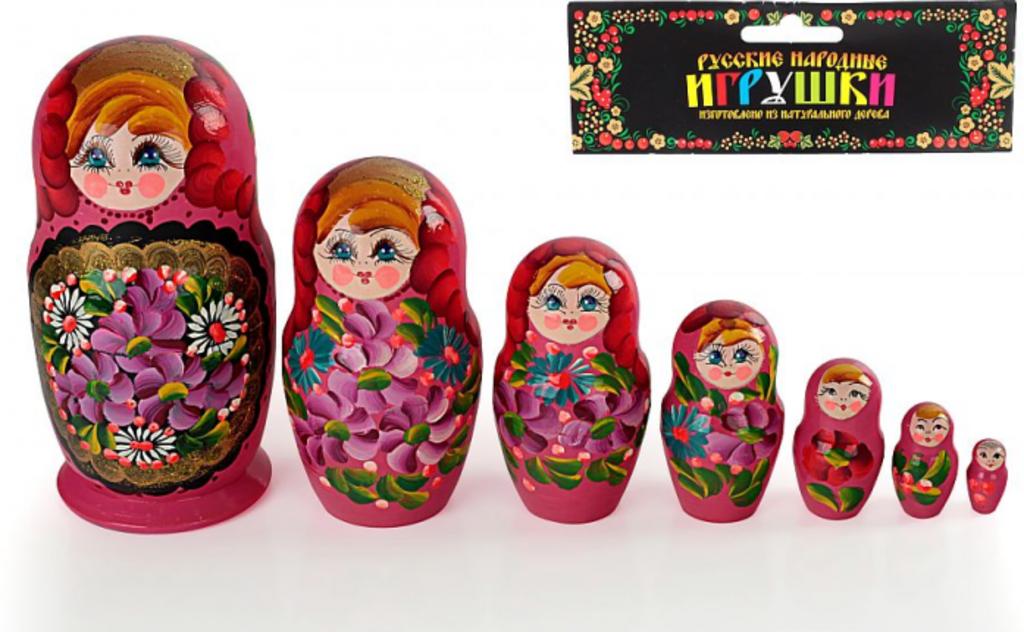 Игрушки для малышей: Матрешка 7-в-1 расписная в Игрушки Сити