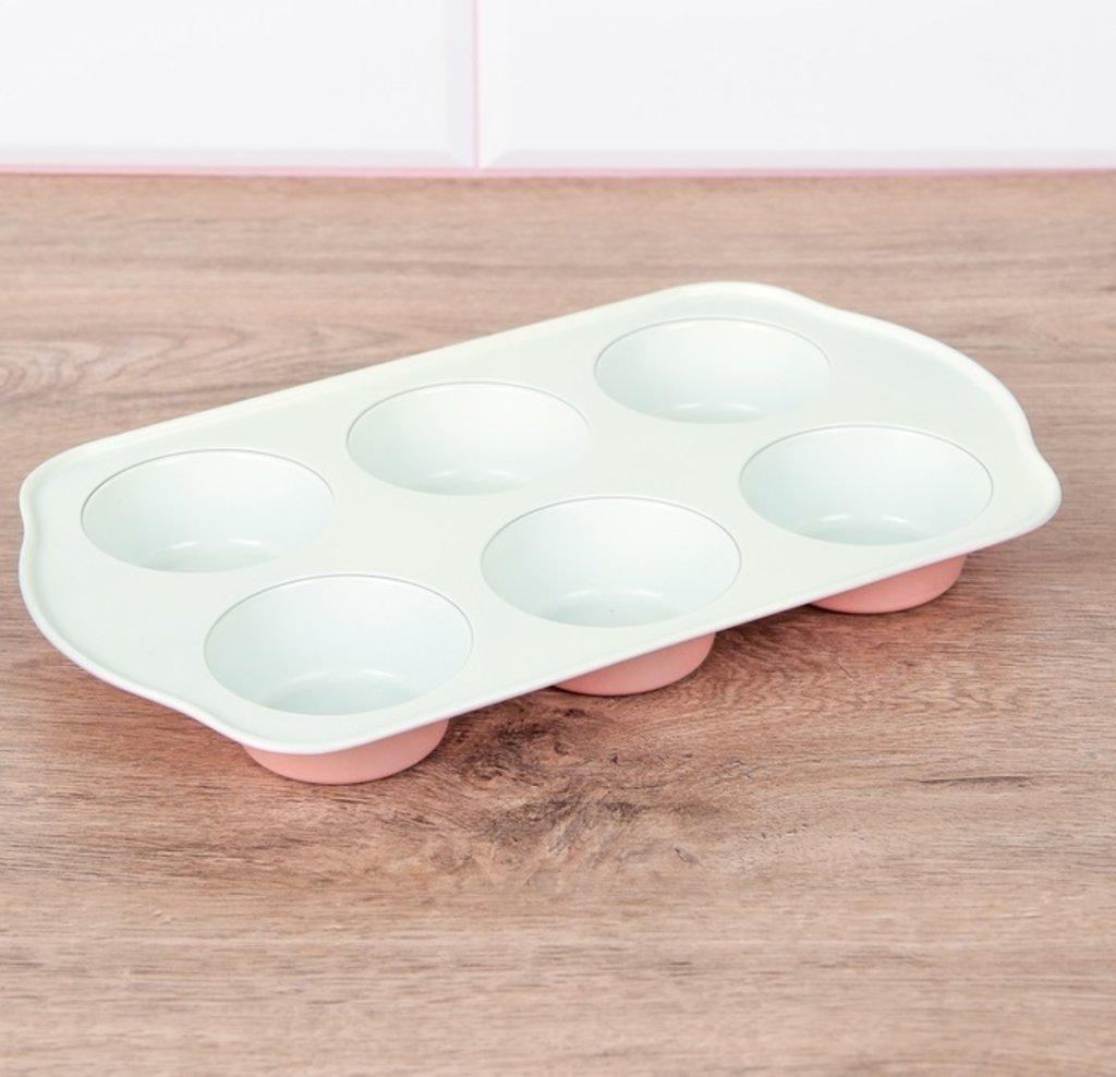 Формы для выпечки кексов: Форма для выпечки с керамическим покрытием Флёри 6 ячеек в ТортExpress
