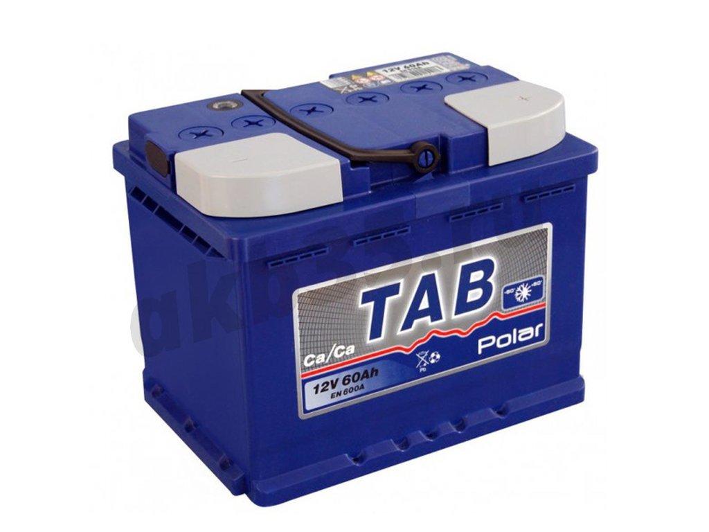 Аккумуляторы: TAB 60 А/ч Обратный POLAR в Планета АКБ