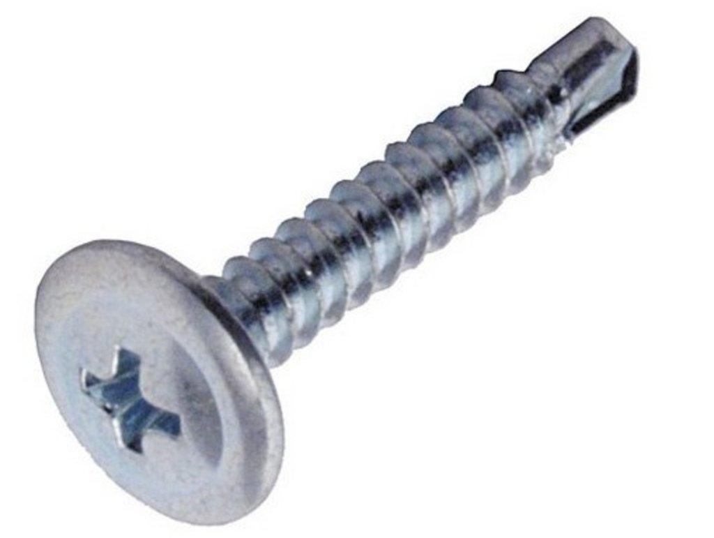 Саморезы: Саморез 4,2*16 прессшайба цинк со сверлом 100 шт пакет zip lock в Борей, ООО