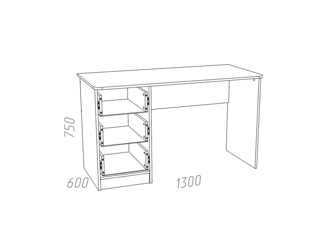 Детские и подростковые столы: Стол письменный НМ 011.47-01 ММ Рико-М в Стильная мебель