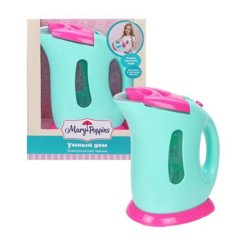 Игрушки для девочек: Mary Poppins 453136 Умный дом Чайник на батарейках бирюза в Игрушки Сити