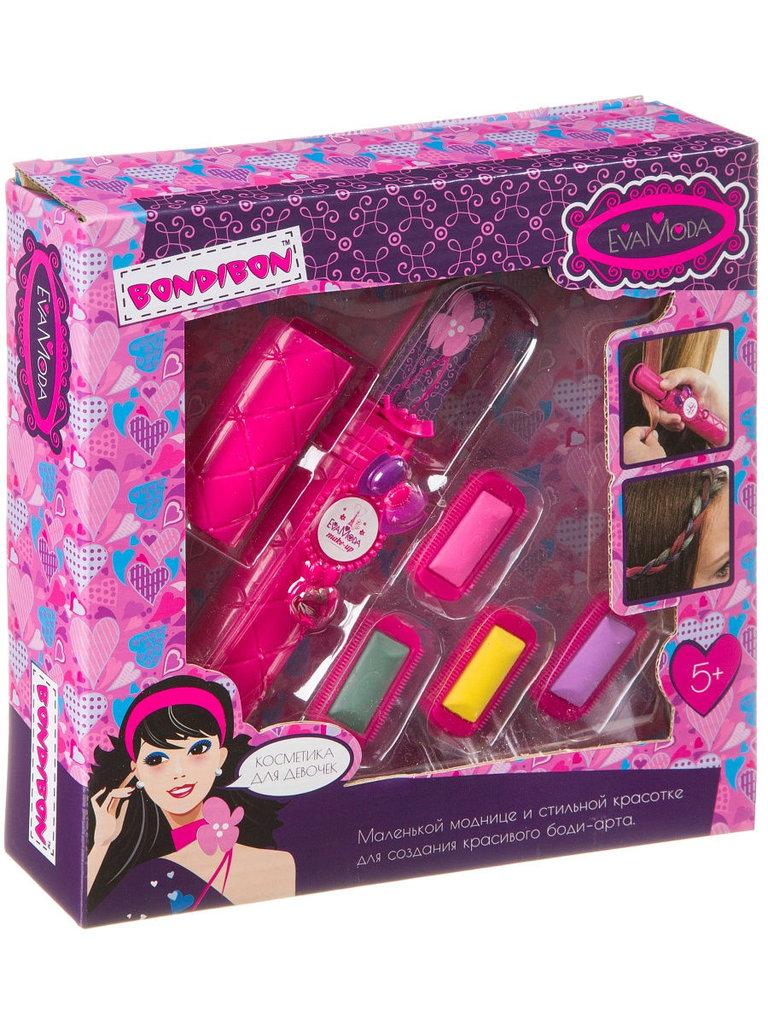 Игрушки для девочек: Bondibon  Eva Moda Набор детской декоративной косметики 61104 22х22х5.3см в Игрушки Сити