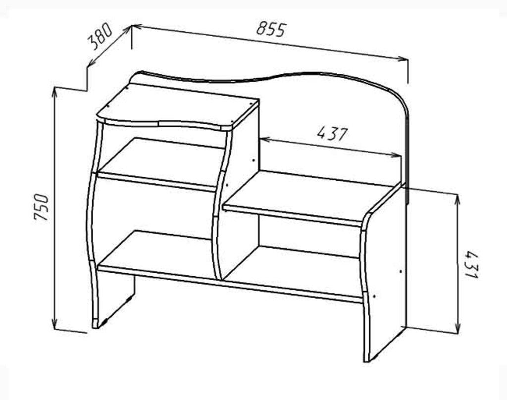 Тумбы и шкафы для обуви: Обувница Волна (Линаура) в Стильная мебель