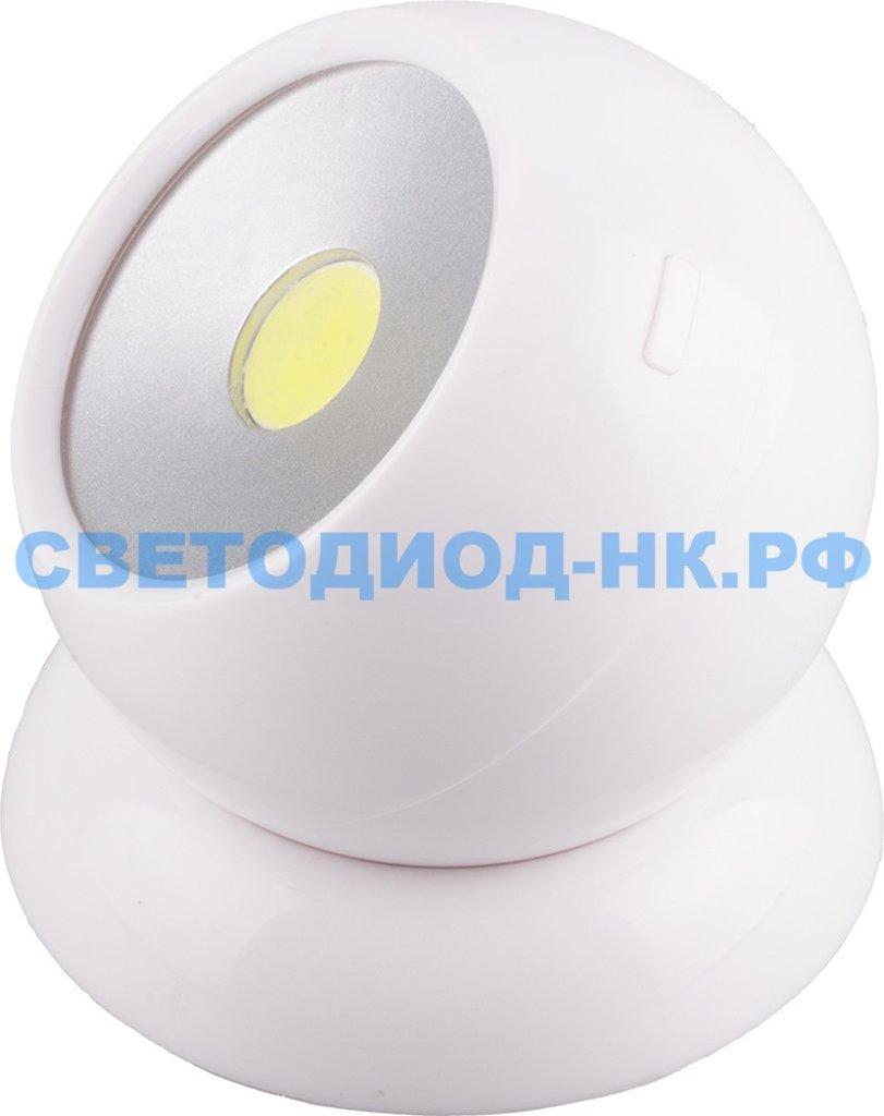Пушлайты: Светодиодный поворотный светильник Feron FN1209, 3W, белый в СВЕТОВОД