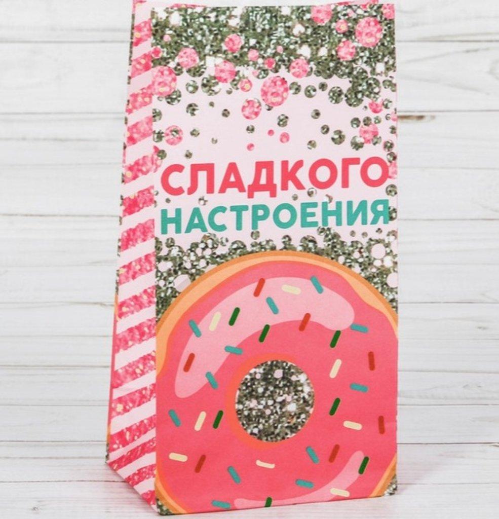 """Пакеты: Пакет подарочный без ручек """"Сладкого настроение"""" 10х19.3см в ТортExpress"""