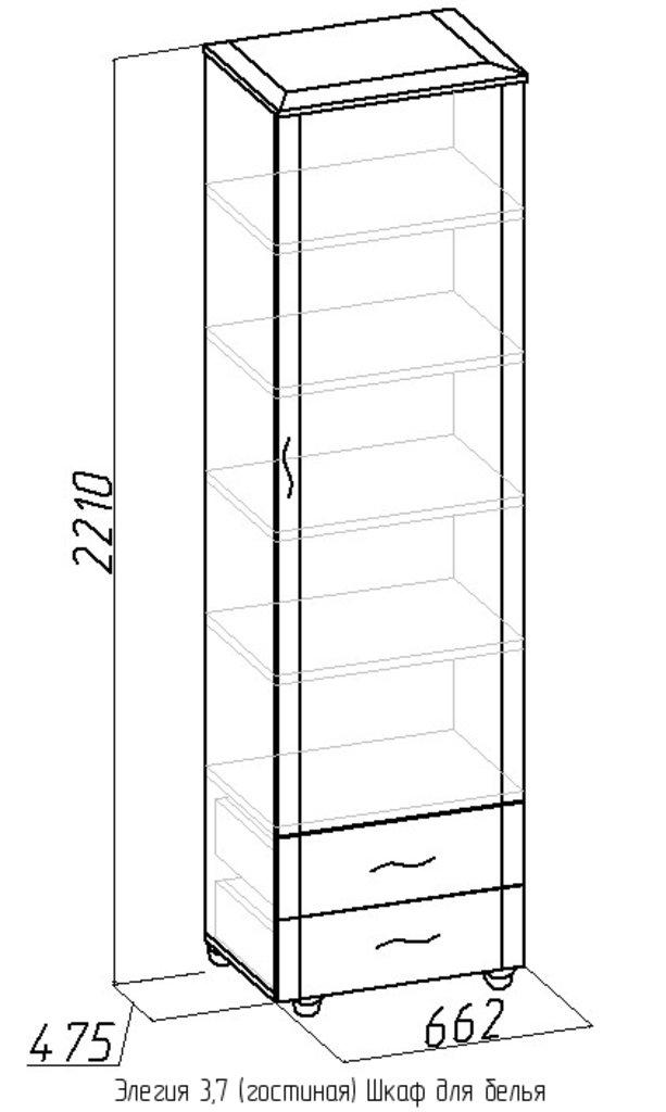 Шкафы для одежды и белья: Шкаф для белья Элегия 3,7 в Стильная мебель