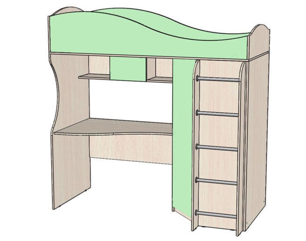 Детские и подростковые кровати: Кровать - чердак Буратино в Стильная мебель