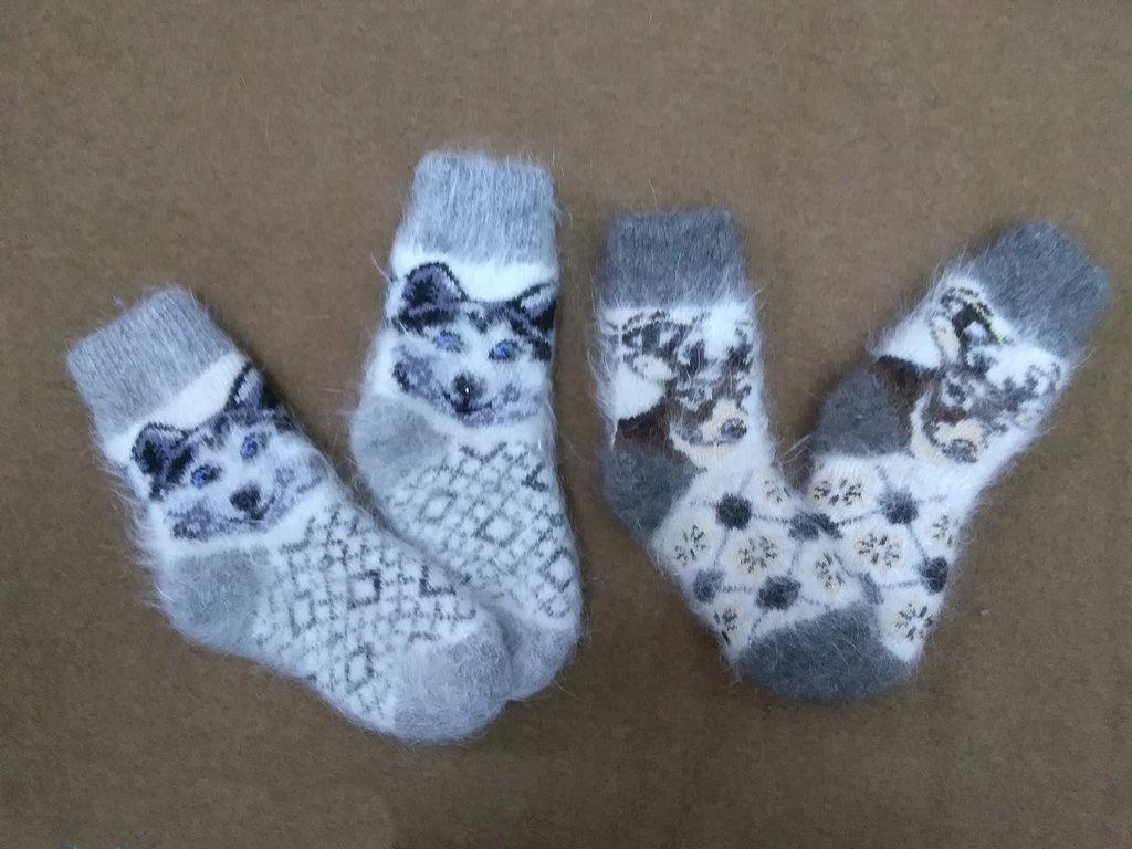 Детская одежда: Носки детские из собачьей шерсти в Сельский магазин