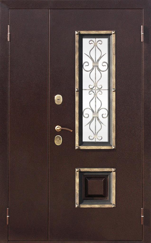 Входные двери (премиум)  от 90-110мм: Входная дверь  ВЕНЕЦИЯ 1200мм в STEKLOMASTER