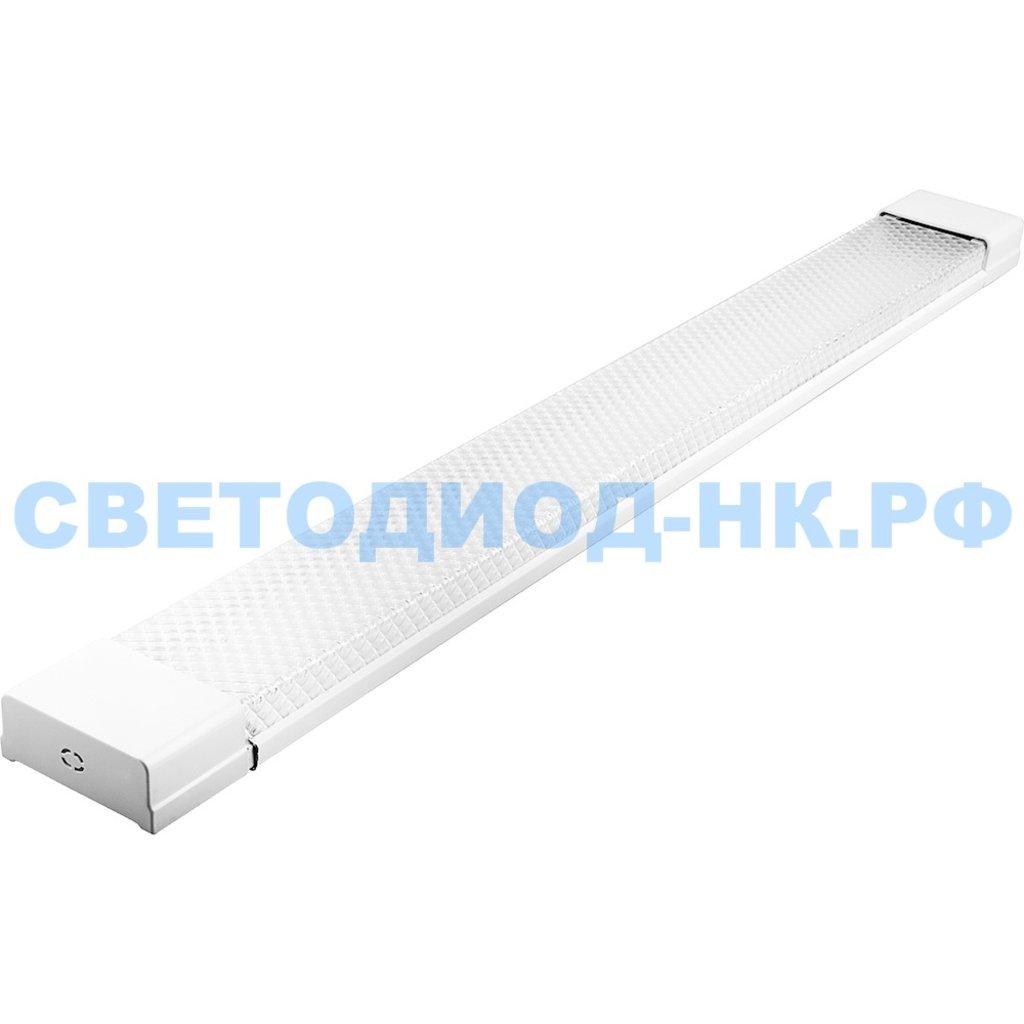 Линейные светильники: Светодиодный светильник AL5020 18W 1300Lm 6500K, рассеиватель призма в стальном корпусе, 600*23*60мм в СВЕТОВОД