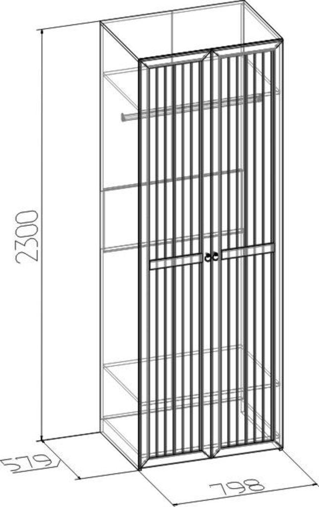 Шкафы для одежды и белья: Шкаф для одежды Марсель 54 (Стандарт+Стандарт) в Стильная мебель