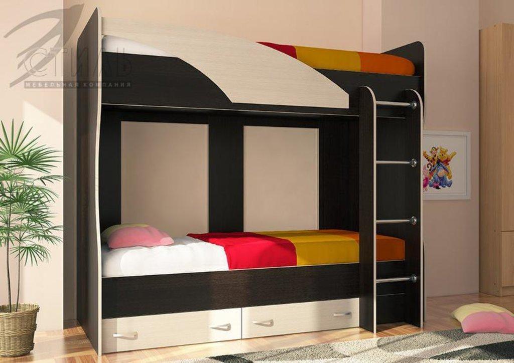Детские: Кровать 2-х ярусная Мийа (А) (венге/дуб молочный) в Диван Плюс