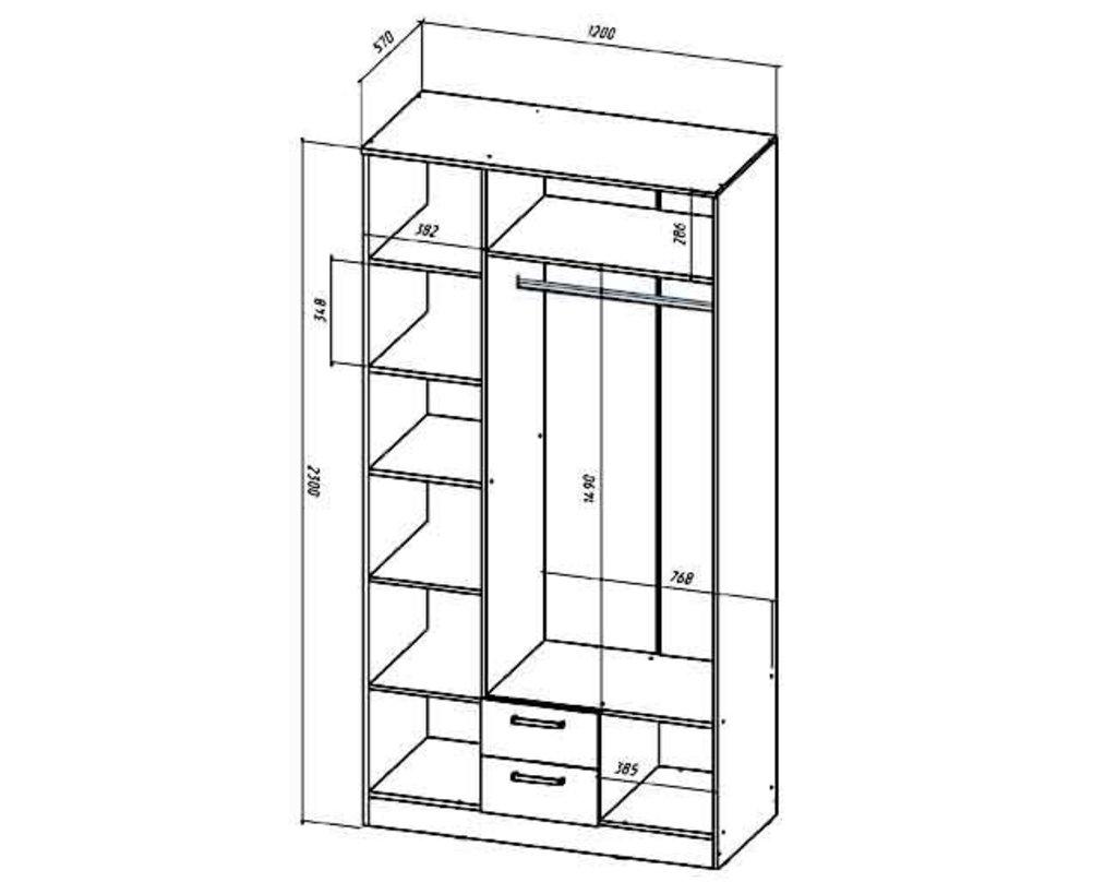 Мебель для спальни Коста-Рика. Модульная серия.: Шкаф 3-х створчатый Коста-Рика в Уютный дом