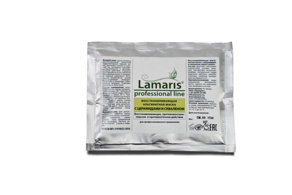Альгинатные маски для лица Lamaris: Восстанавливающая альгинатная маска  с ЦЕРАМИДАМИ и СКВАЛЕНОМ Lamaris в Профессиональная косметика LAMARIS в Тюмени