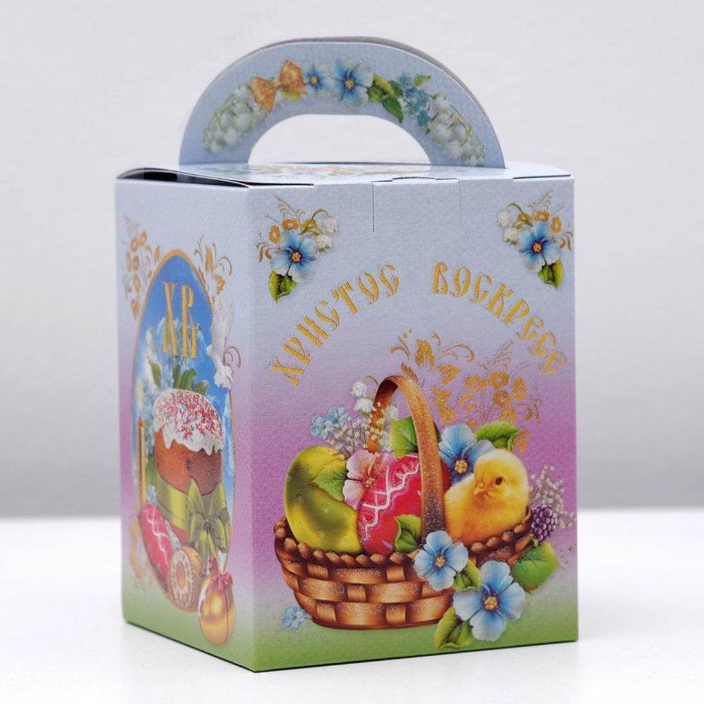"""Коробки для кондитерских изделий: Упаковка для кулича """"Светлая пасха"""", 11,5 х 11,5 х 15 см в ТортExpress"""