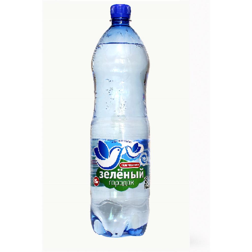 Вода 0,5 - 1,5 л: Зеленый городок 1,5 газированный в ТСК+, ООО