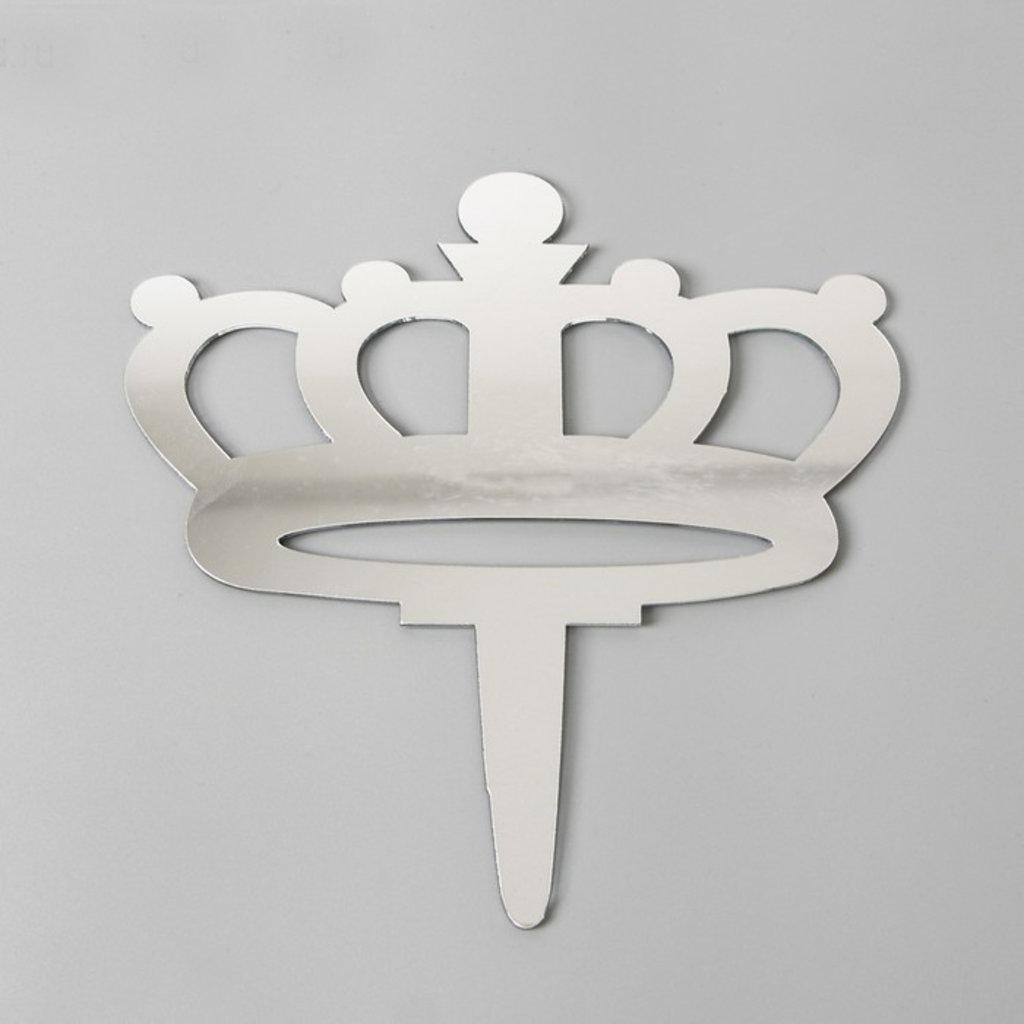 """Топперы: Топпер """"Корона"""" акрил, цвет серебро в ТортExpress"""