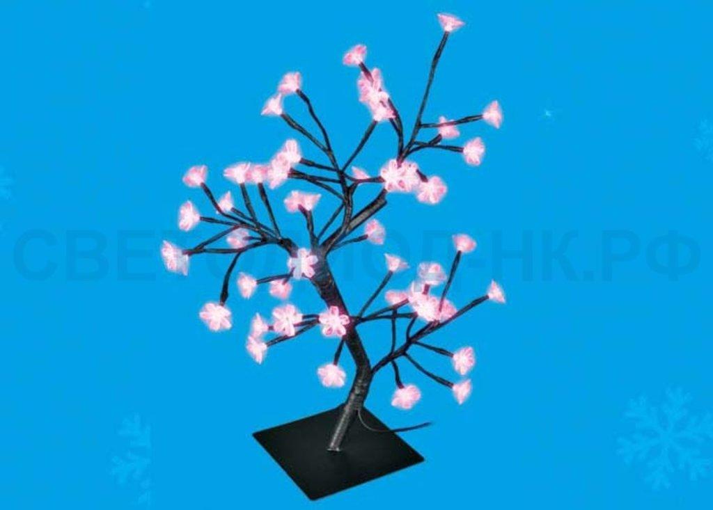Светодиодные деревья: Дерево св/д ULD-T3545-048/SBA 48LED Сакура 45см, роз. IP20, провод черн. 4W Uniel в СВЕТОВОД