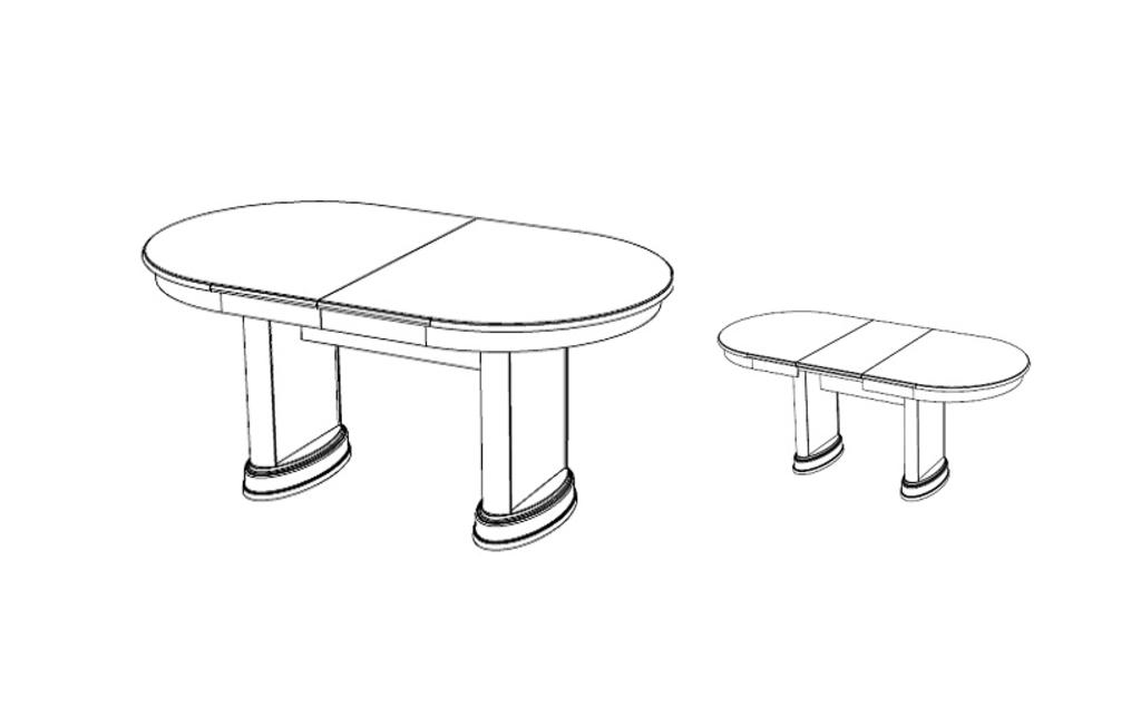 Мебель для гостиных, общее: Стол Роза раздвижной в Стильная мебель