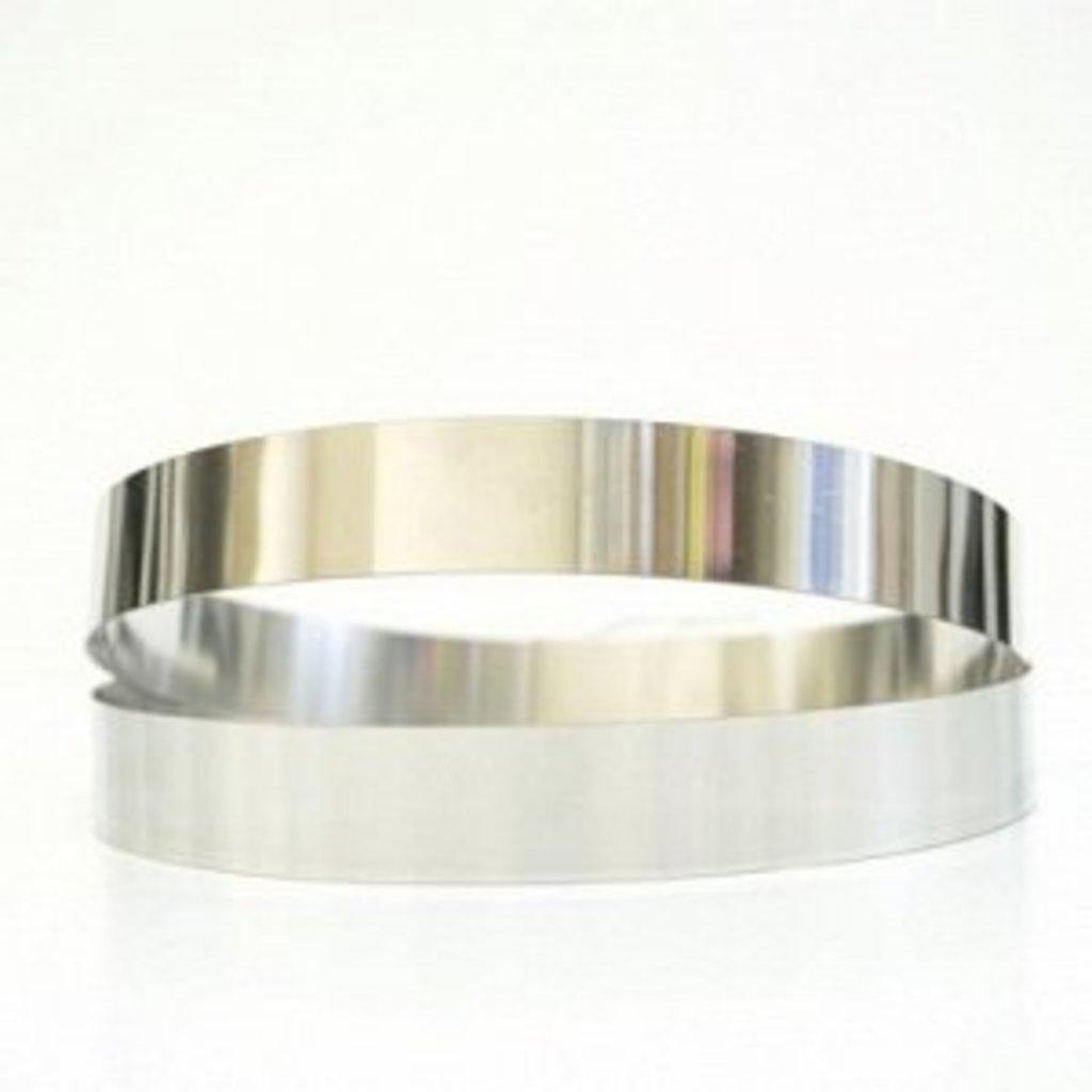 Кольца для выпечки и выкладки: Кольцо для выпечки металлическое  d=20см h=2см в ТортExpress