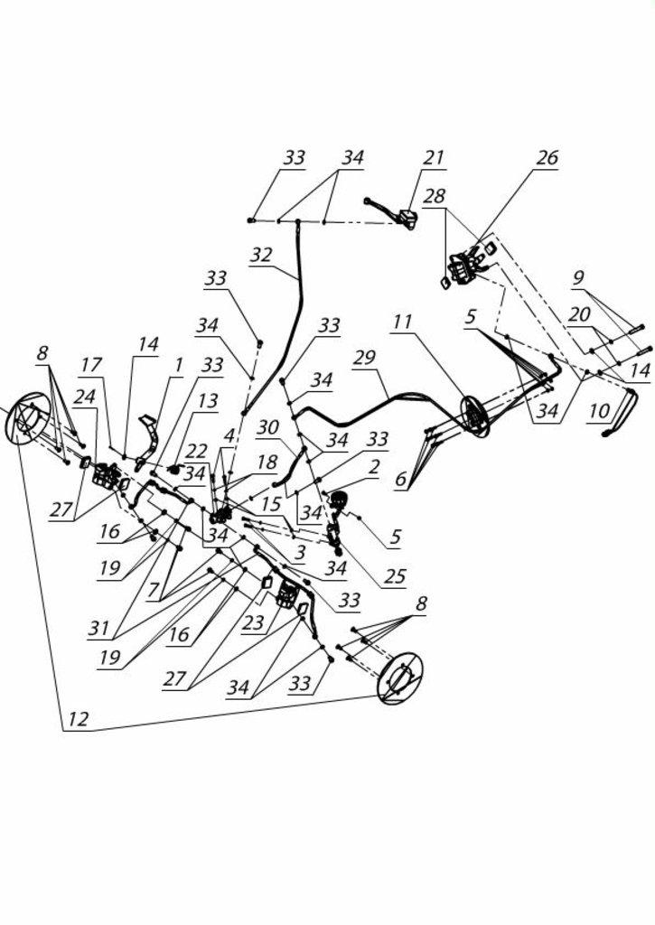 Запчасти для техники PM: Цилиндр ножного тормоза 934851000B в Базис72