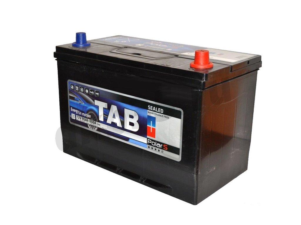 Аккумуляторы: TAB 95 А/ч Обратный Азия Нижнее крепление JIS MF в Планета АКБ