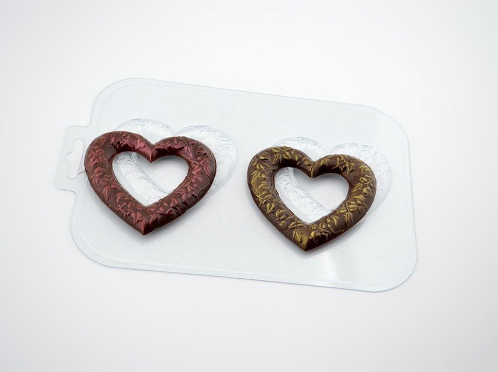 Пластиковые формы для шоколада: Форма для шоколада Сердечные кольца в ТортExpress