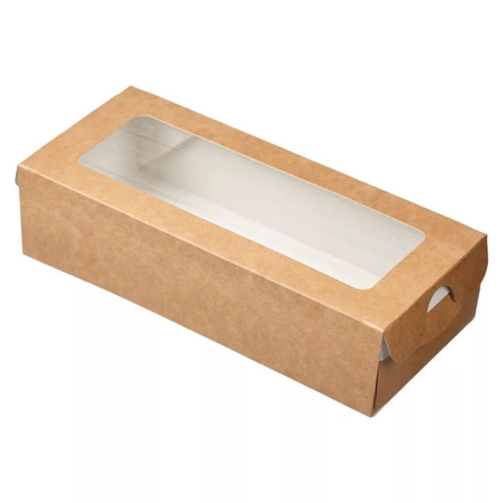 Коробки для кондитерских изделий: Коробка для кондитерских изделий  Eco Case 170х70х40мм в ТортExpress