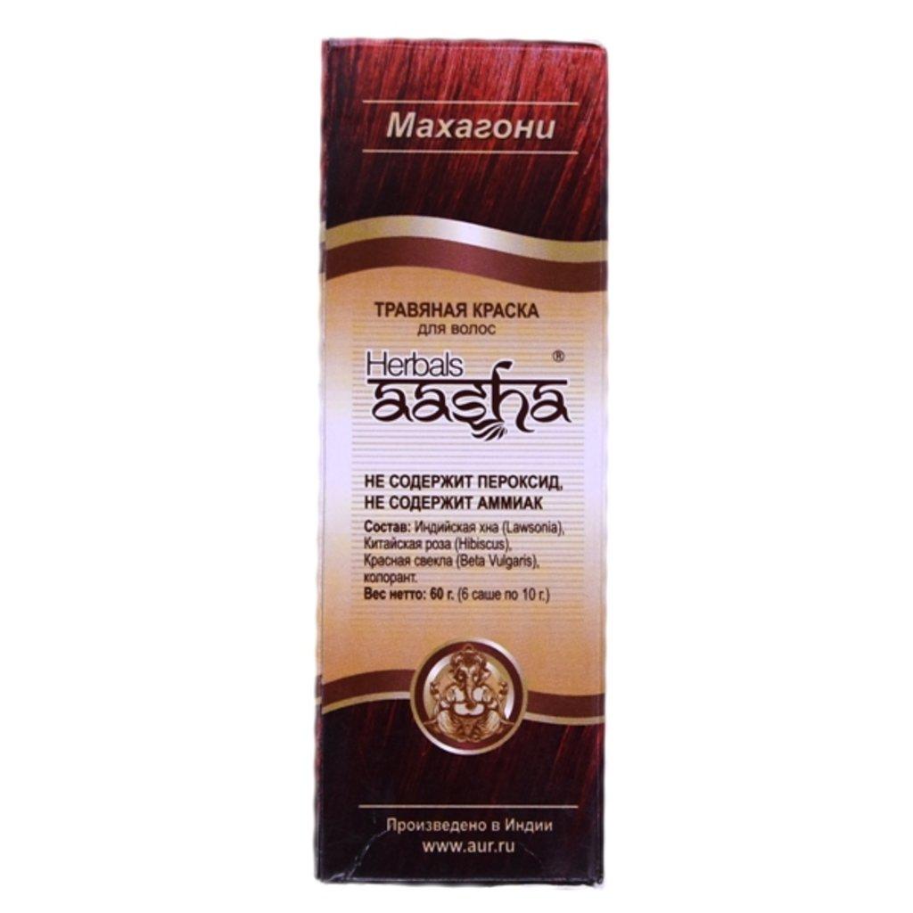 Средства для волос: Травяная краска для волос - Махагони (Herbals Aasha) в Шамбала, индийская лавка